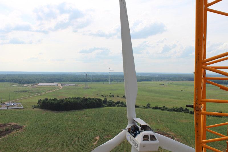Строительство ветроэнергетических установок в Минске